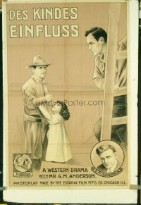 189 BRONCHO BILLY & THE RUSTLER'S CHILD linen German poster