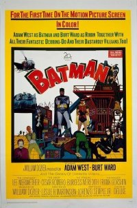 VHP7 483 BATMAN one-sheet movie poster '66 Adam West, Burt Ward, DC Comics!