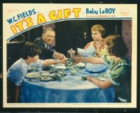 #180 IT'S A GIFT lobby card '34 W.C. Fields fighting with kids!!