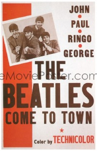 340 BEATLES COME TO TOWN 1sheet
