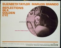 3416 REFLECTIONS IN A GOLDEN EYE half-sheet movie poster '67 Brando, Taylor