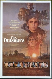4670 OUTSIDERS art style one-sheet movie poster '82 Francis Ford Coppola