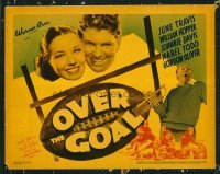 1289 OVER THE GOAL title lobby card '37 cool football goal post image!
