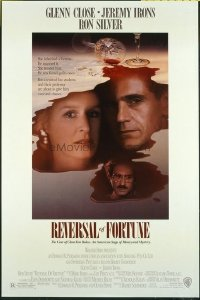 4679 REVERSAL OF FORTUNE DS one-sheet movie poster '90 Close, Irons