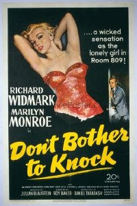 235 DON'T BOTHER TO KNOCK ('52) linen 1sheet
