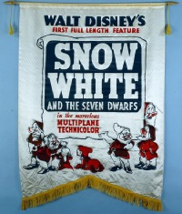 030 SNOW WHITE & THE SEVEN DWARFS silk banner