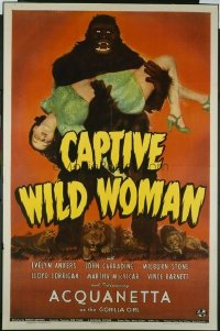 260 CAPTIVE WILD WOMAN 1sheet