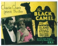 VHP7 182 BLACK CAMEL glass lantern coming attraction slide '31 Charlie Chan, Lugosi