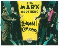 VHP7 162 ANIMAL CRACKERS glass lantern coming attraction slide '30 all 4 Marx Brothers