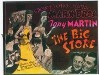 VHP7 168 BIG STORE glass lantern coming attraction slide '41 Marx Brothers, Martin