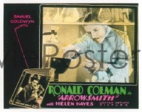 VHP7 144 ARROWSMITH glass lantern coming attraction slide '31 Ronald Colman, John Ford