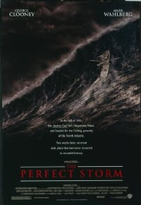4673 PERFECT STORM DS advance one-sheet movie poster '00 George Clooney, Wahlberg