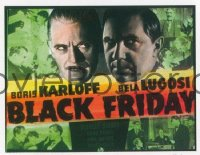 VHP7 120 BLACK FRIDAY glass lantern coming attraction slide '40 Karloff, Bela Lugosi