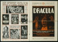 203 DRACULA ('31) pressbook plus ad supplement