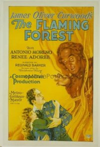 193 FLAMING FOREST linen 1sheet