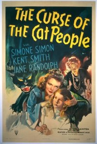 097 CURSE OF THE CAT PEOPLE linen 1sheet