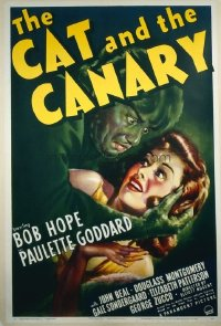 069 CAT & THE CANARY ('39) linen 1sheet