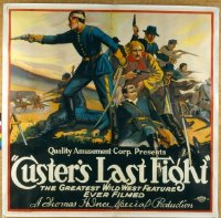 #243 CUSTER'S LAST FIGHT 6sh R25 Thomas Ince