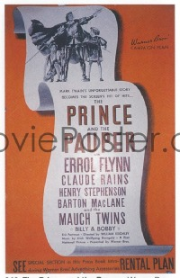 240 PRINCE & THE PAUPER ('37) includes the herald pressbook