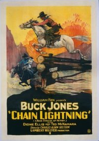 #236 CHAIN LIGHTNING 1sh27 Buck Jones,western