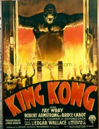 263 KING KONG ('33) linen French 1p