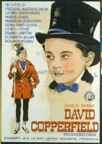 v308 DAVID COPPERFIELD ('35)  Swedish 27x40 '35 W.C. Fields