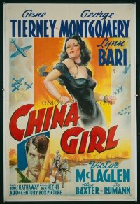 280 CHINA GIRL ('42) paperbacked 1sheet