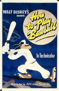 028 HOW TO PLAY BASEBALL linen 1sheet