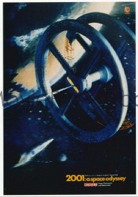 144 2001: A SPACE ODYSSEY Cinerama 23x33 lenticular poster '68 ultra rare super early lenticular!