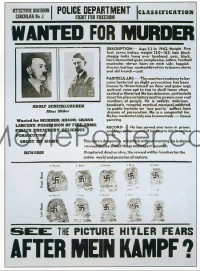 093 AFTER MEIN KAMPF ('41) 1sheet