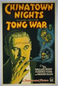 #149 CHINATOWN NIGHTS 1sheet '29 Warner Oland