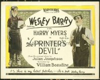 1297 PRINTER'S DEVIL title lobby card '23 Wesley Barry, Harry Myers