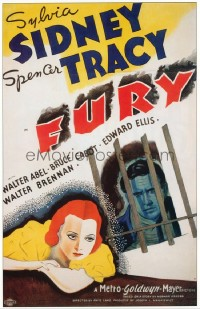 076 FURY ('36) paper backed 1sheet