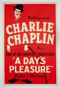 #205 DAY'S PLEASURE 1sheetR24 Charlie Chaplin