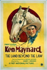 #238 LAND BEYOND THE LAW 1sheet27 Ken Maynard