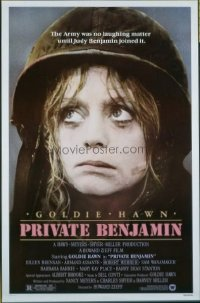 4676 PRIVATE BENJAMIN one-sheet movie poster '81 Goldie Hawn