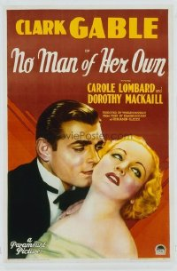 692 NO MAN OF HER OWN ('32) linen 1sheet