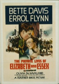 052 PRIVATE LIVES OF ELIZABETH & ESSEX 1sheet