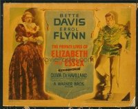 1298 PRIVATE LIVES OF ELIZABETH & ESSEX title lobby card '39 Flynn