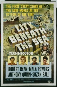 019 CITY BENEATH THE SEA ('53) 1sheet