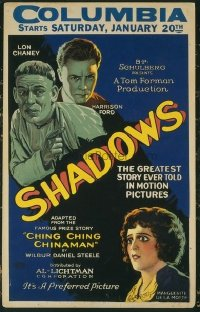 #187 SHADOWS window card '22 Lon Chaney Sr