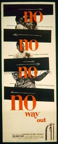 #275 NO WAY OUT insert '50 great Saul Bass design!