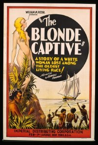 159 BLONDE CAPTIVE R30s, paperbacked 1sheet