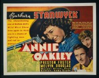 VHP7 048 ANNIE OAKLEY half-sheet movie poster '35 Barbara Stanwyck, Foster