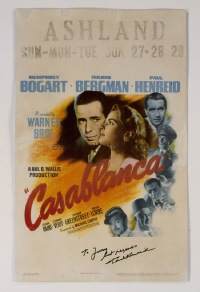097 CASABLANCA signed by Paul Henreid WC