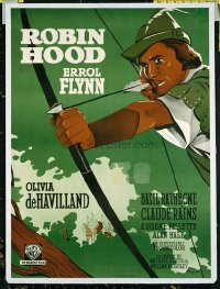 1016 ADVENTURES OF ROBIN HOOD linenbacked Danish movie poster R51 Errol Flynn