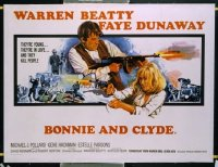 v082 BONNIE & CLYDE  British quad '67 cool Chantrell art!