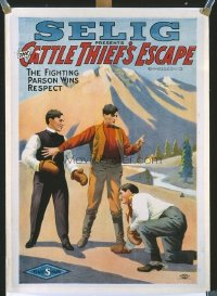 198 CATTLE THIEF'S ESCAPE linen 1sheet