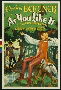 141 AS YOU LIKE IT ('36) linen 1sheet