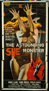 v149 ASTOUNDING SHE MONSTER  3sh '58 evil & beautiful!